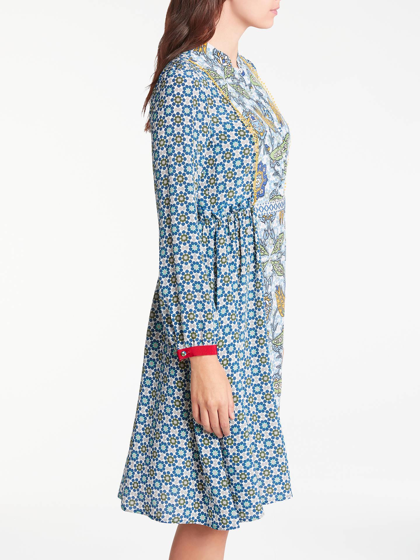 e0117ec46c6e ... Buy Weekend MaxMara Vite Silk Crepe de Chine Dress, Navy, 10 Online at  johnlewis ...