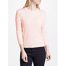 Buy Weekend MaxMara Pagode Silk Cotton Jumper, Powder Online at johnlewis.com