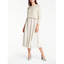 Buy Weekend MaxMara Zucca Dress, Sand Online at johnlewis.com