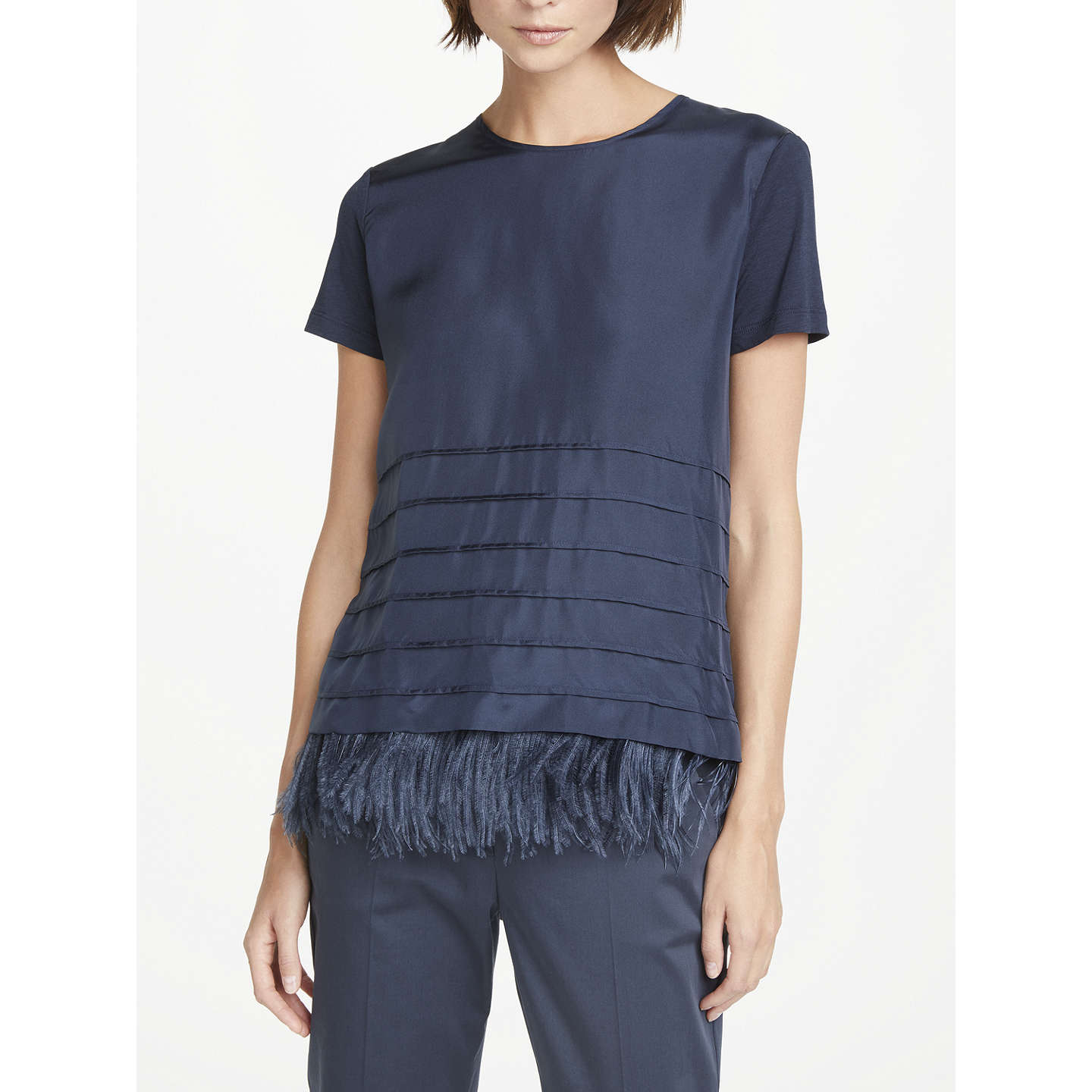 T-Shirt for Women On Sale, Dark Blue, lyocell, 2017, 12 14 Weekend by Max Mara