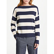 Buy Marella Meandro Stripe Jumper, Navy Online at johnlewis.com