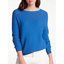 Buy Weekend MaxMara Valery Cotton Jumper, Cornflower Blue Online at johnlewis.com