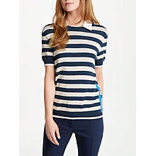 Buy Marella Riposo Knitted Stripe Top, Navy Online at johnlewis.com