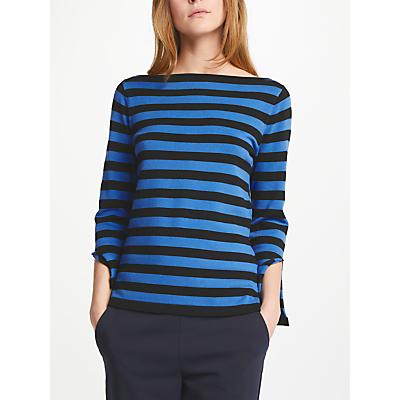 Marella Eolo Stripe Jumper, Cornflower Blue