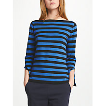 Buy Marella Eolo Stripe Jumper, Cornflower Blue Online at johnlewis.com