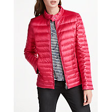 Buy Gerry Weber Quilted Down Fill Jacket, Pink Online at johnlewis.com
