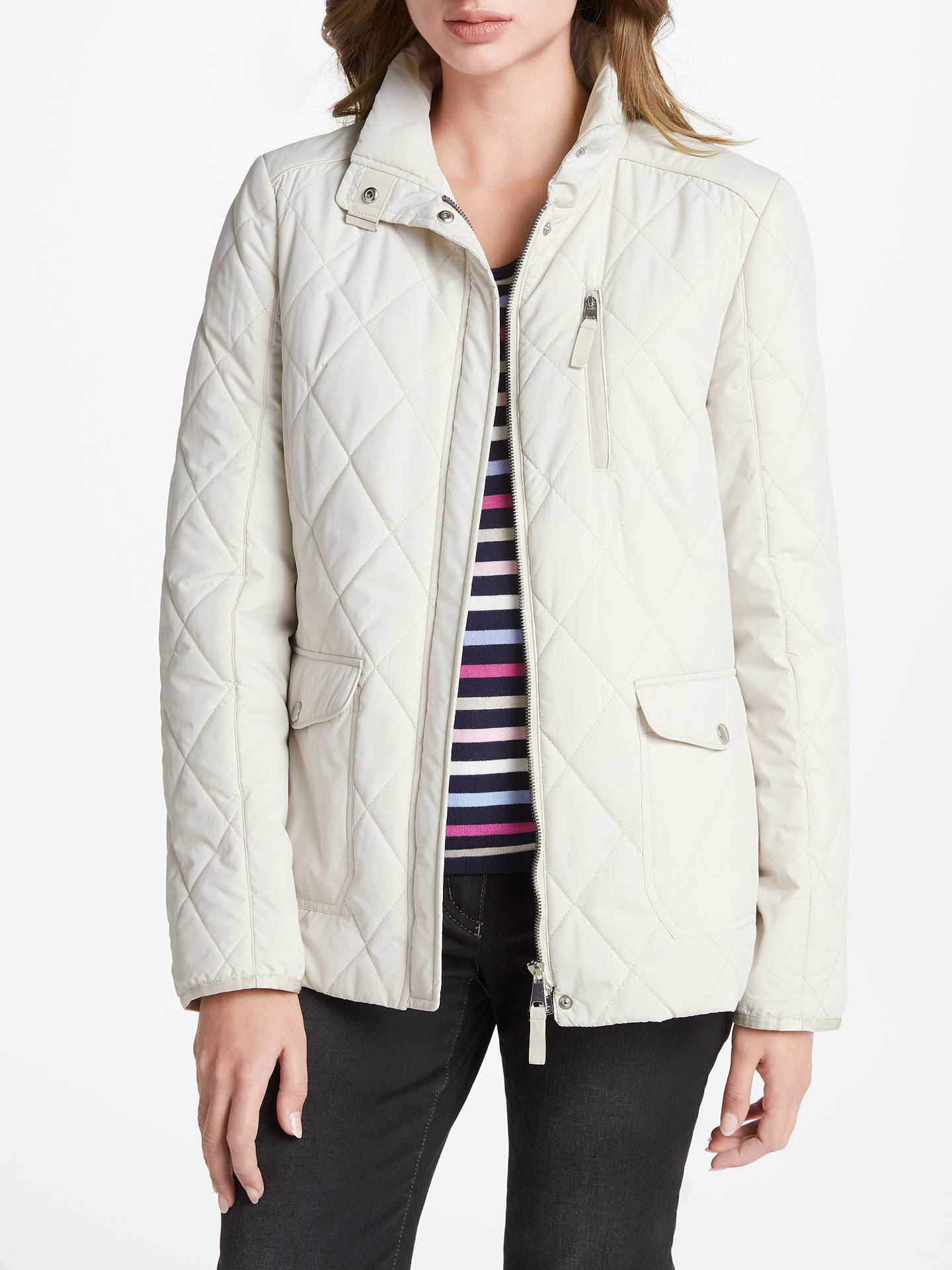 the best attitude 60506 50a68 Gerry Weber Quilted Jacket, Beige at John Lewis & Partners