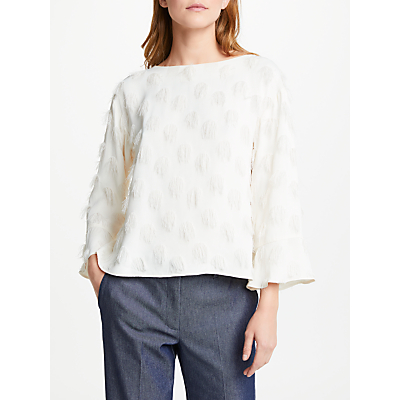 Marella Anson Textured Circle Top, White