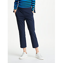 Buy Marella Tucano Cropped Trousers, Navy Online at johnlewis.com