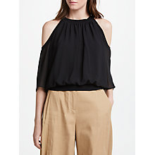 Buy Marella Cold Shoulder Top, Black Online at johnlewis.com