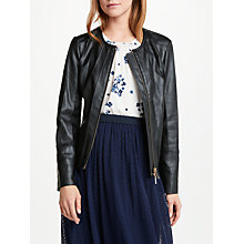 Buy Marella Sonda Leather Effect Jacket, Black Online at johnlewis.com