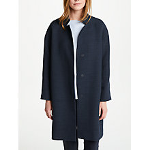 Buy Marella Medusa Basketweave Coat, Navy Online at johnlewis.com