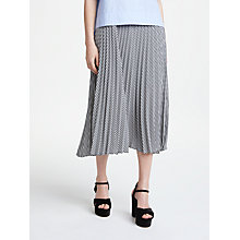 Buy Marella Palmer Gingham Skirt, Black Online at johnlewis.com