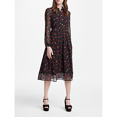 Marella Cap Print Long Dress, Black