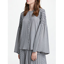 Buy Marella Harden Gingham Shirt, Black Online at johnlewis.com