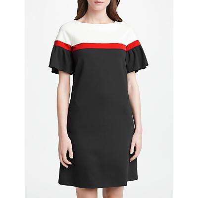 Marella Block Stripe Dress, Black
