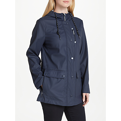 Gerry Weber Hooded Rubberised Coat, Navy