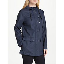 Buy Gerry Weber Hooded Rubberised Coat, Navy Online at johnlewis.com