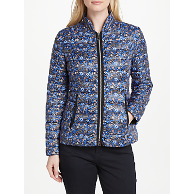Gerry Weber Quilted Floral Print Jacket, Blue