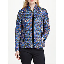 Buy Gerry Weber Quilted Floral Print Jacket, Blue Online at johnlewis.com