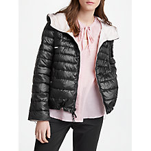Buy Marella Timoteo Reversible Quilted Coat, Black/Powder Online at johnlewis.com
