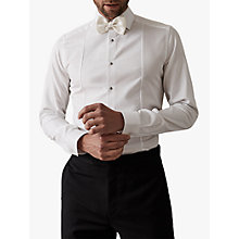Buy Reiss Marcel Button Detail Slim Fit Shirt, White Online at johnlewis.com