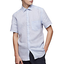 Buy Reiss Ken Shirt Sleeve Linen Shirt Online at johnlewis.com