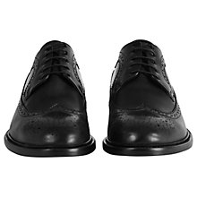 Buy Reiss Ash Leather Brogues, Black Online at johnlewis.com