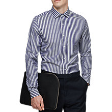 Buy Reiss Kilda Stripe Slim Fit Shirt, Navy/White Online at johnlewis.com