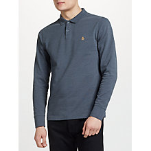 Buy Original Penguin Raised Rib Long Sleeve Polo Top, Dark Sapphire Online at johnlewis.com
