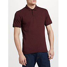 Buy Original Penguin Herringbone Ribbed Polo Shirt, Dark Red Online at johnlewis.com