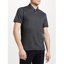 Buy Original Penguin Jacquard Snowflake Polo Shirt, True Black Online at johnlewis.com