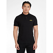 Buy Barbour International Essential Polo Shirt, Black Online at johnlewis.com