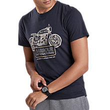 Buy Barbour International Charge T-Shirt, Dark Navy Online at johnlewis.com