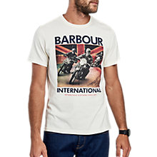 Buy Barbour International Union Race T-Shirt, Neutral Online at johnlewis.com