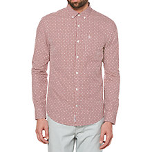Buy Original Penguin Mini Gingham Dobby Shirt, Syrah Online at johnlewis.com