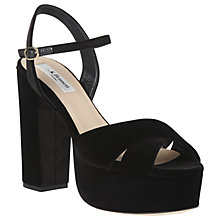 Buy L.K. Bennett Elle High Block Heel Platform Sandals Online at johnlewis.com