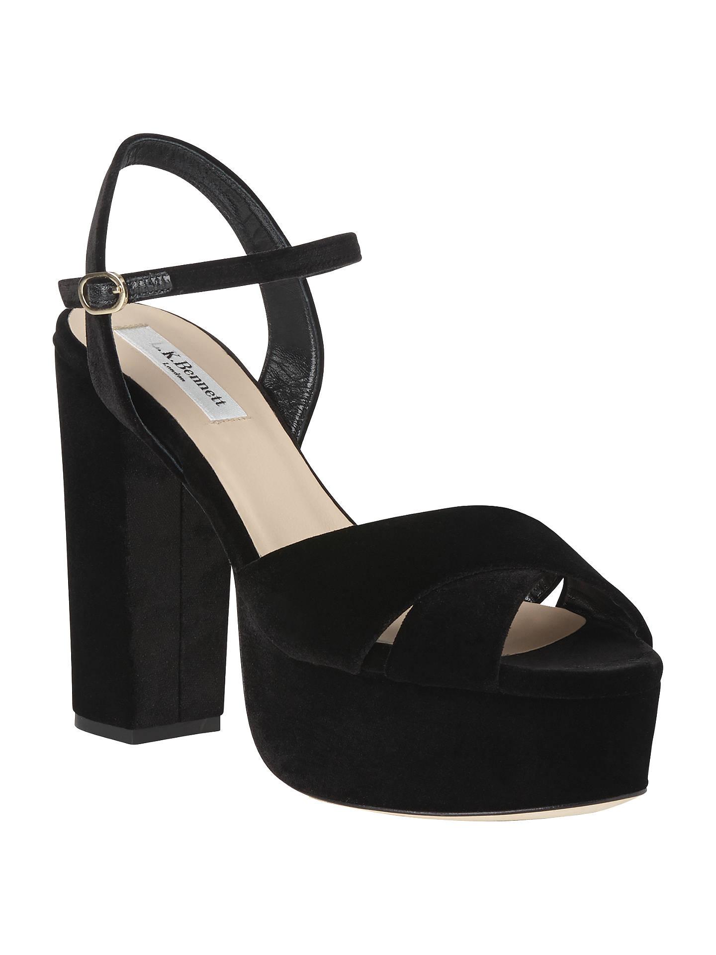 a8ff9c50f5e3 L.K. Bennett Elle High Block Heel Platform Sandals at John Lewis ...
