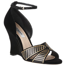 Buy L.K. Bennett Miranda Wedge Heel Sandals, Black Online at johnlewis.com