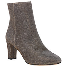 Buy L.K. Bennett Leelah Block Heeled Ankle Boots, Bronze Online at johnlewis.com