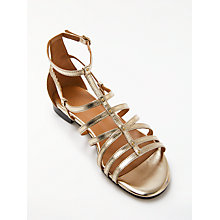 Buy AND/OR Lucia Sandals, Gold Leather Online at johnlewis.com