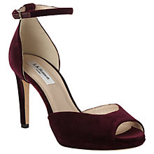 Buy L.K. Bennett Yasmin Stiletto Heeled Sandals, Loganberry Velvet Online at johnlewis.com