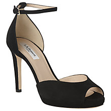 Buy L.K. Bennett Yasmin Stiletto Heeled Sandals,  Black Velvet Online at johnlewis.com