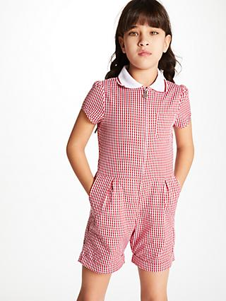 f1239f57758 John Lewis   Partners Gingham School Playsuit