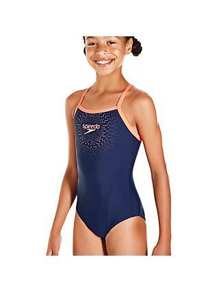 6f7b279a24c39 Speedo Girls' Speedo Gala Thinstrap Muscleback Swimsuit
