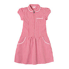 Buy John Lewis School Gingham A-Line Summer Dress Online at johnlewis.com
