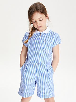 John Lewis & Partners Gingham School Playsuit