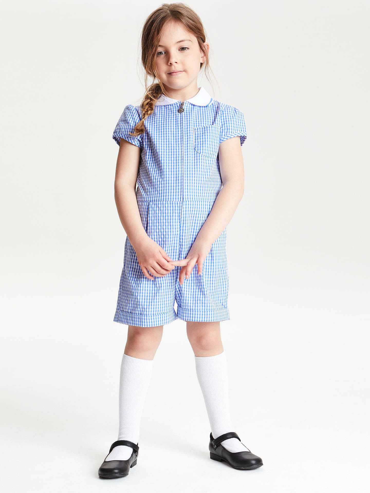 ac2bc0b9a61 John Lewis   Partners Gingham School Playsuit at John Lewis   Partners