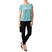 Buy Pure Collection Silk Blend Velvet T-Shirt Online at johnlewis.com