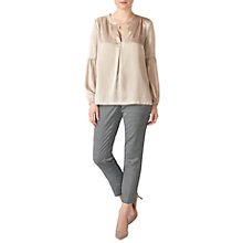 Buy Pure Collection Silk Gathered Sleeve Blouse Online at johnlewis.com
